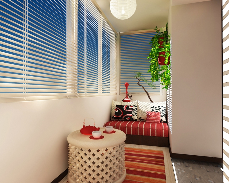 Посмотрите дизайнерские решения для объединения балконов..